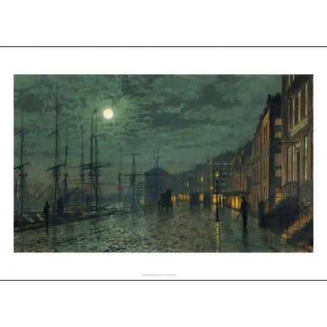 "JOHN ATKINSON GRIMSHAW ""City Docks By Moonlight"" PRINT various SIZES, BRAND NEW"