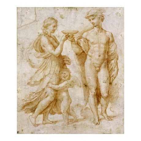 RAPHAEL nude people ON CANVAS sketch NUDE NEW choose your SIZE, 55cm to X LARGE