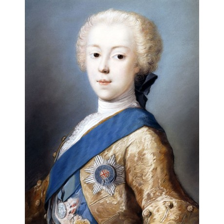 ROSALBA GIOVANNA CARRIERA Portrait Prince Charles Edward Stuart ROYAL sash NEW