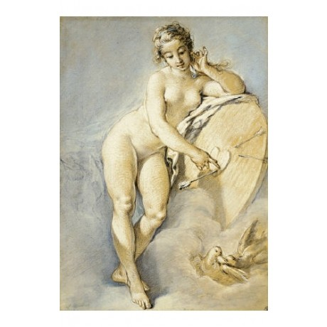 "FRANCOIS BOUCHER ""Venus Standing"" Nude CANVAS ART ! various SIZES available, NEW"