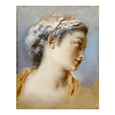 JACQUES ANDRE PORTAIL Art beautiful girl ON CANVAS choose SIZE, from 55cm up