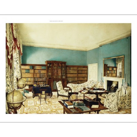 "ELEGANT CANVAS PRINT ""The Library, Binfield, Berkshire"" mirror EDWARD HASSELL"