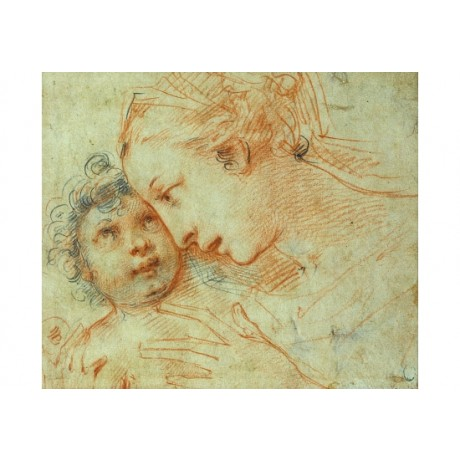 "CARLO FRANCESCO NUVOLONE ""Madonna Child"" MOTHERHOOD affection love CANVAS PRINT"