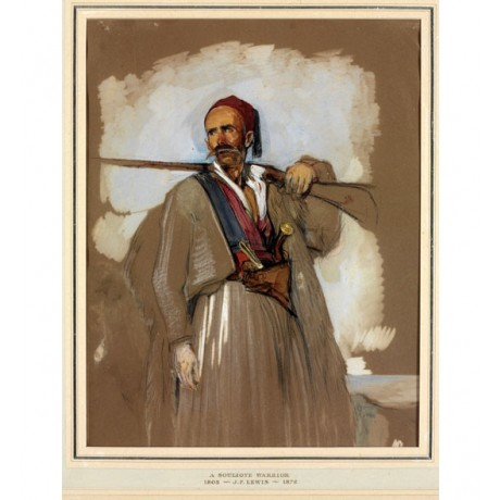 JOHN FREDERICK LEWIS A Suliot warrior with his gun GREEK soldier tradition NEW