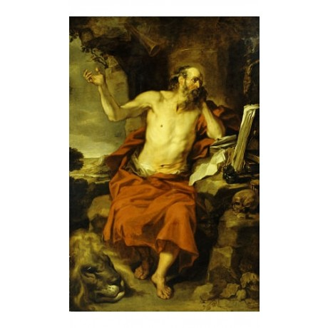 "PIETER VAN LINT ""Saint Jerome In Wilderness"" ON CANVAS various SIZES, BRAND NEW"