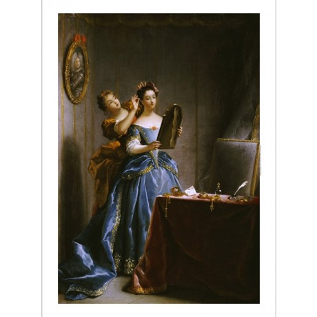 """JEAN RAOUX """"Lady At Her Toilet"""" print ON CANVAS NEW various SIZES available, NEW"""