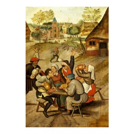 "PIETER BRUEGHEL II ""Servants Breakfast After Wedding"" various SIZES, BRAND NEW"