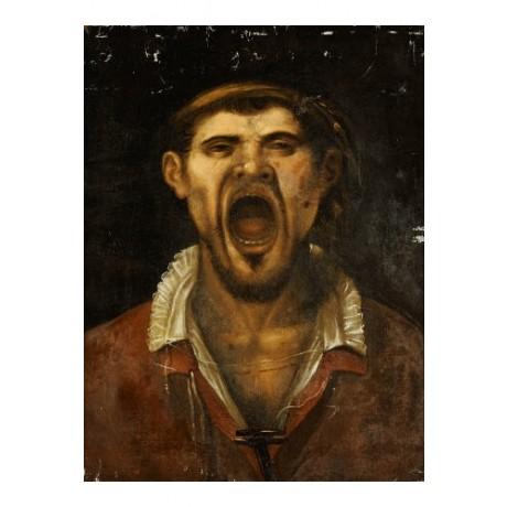 "AGOSTINO CARRACCI ""Peasant Man, Shouting"" print choose SIZE, from 55cm up, NEW"