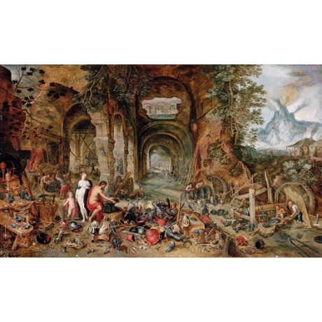 "STUDIO OF JAN BREUGHEL II ""The Forge of Vulcan"" CANVAS various SIZES, BRAND NEW"