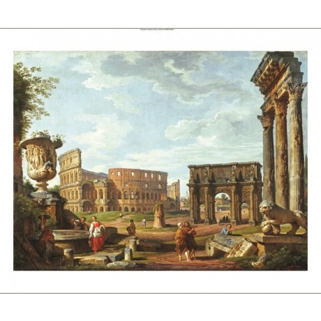 "GIOVANNI PAOLO PANNINI ""View Of Rome"" PRINT ON CANVAS various SIZES, BRAND NEW"