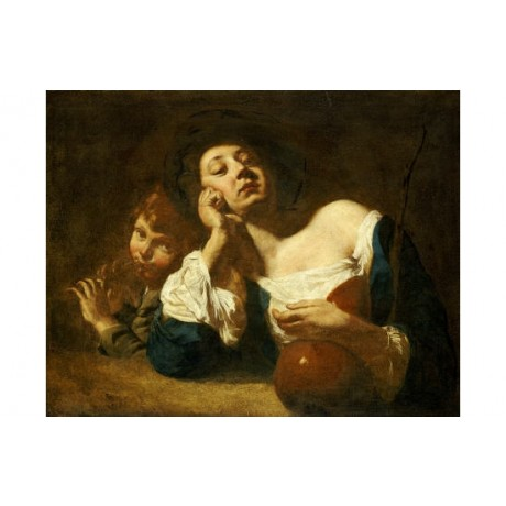 GIOVANNI BATTISTA PIAZZETTA Shepherdess Old Master choose SIZE, from 55cm up