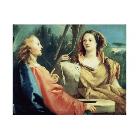 "GIOVANNI TIEPOLO ""Christ And The Samaritan Woman"" PRINT various SIZES, BRAND NEW"