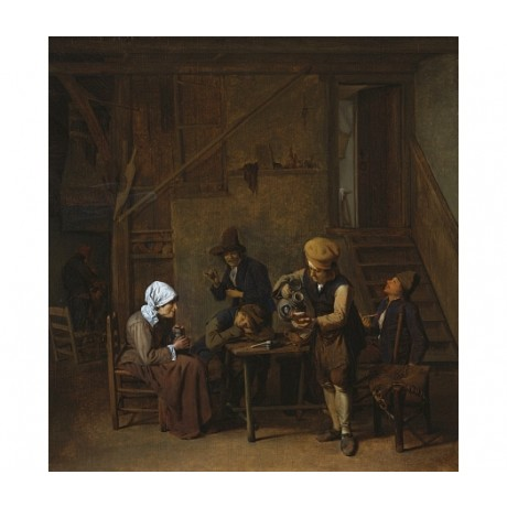 "B. SCHAAK ""Peasants In An Interior"" new CANVAS print! various SIZES, BRAND NEW"