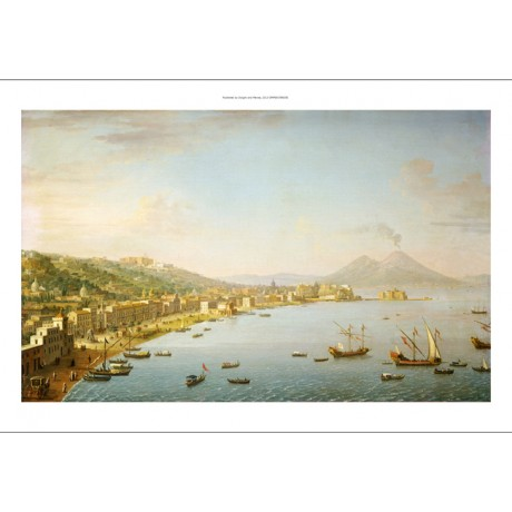 "ANTONIO JOLI ""View Of Naples"" landscape PRINT CANVAS various SIZES available"