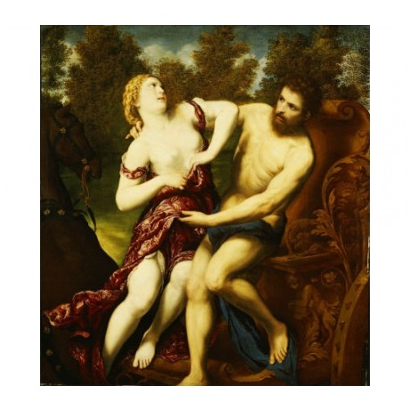 "PARIS BORDONE ""Rape Of Proserpine"" Nude ON CANVAS choose SIZE, from 55cm up, NEW"