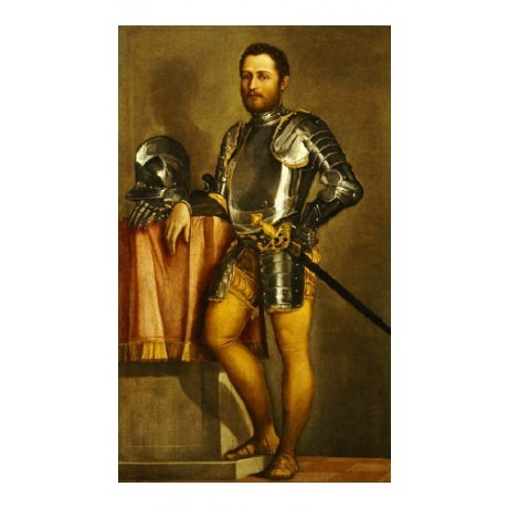 PAOLO CALIARI Portrait Military PRINT ON CANVAS choose SIZE, from 55cm up, NEW