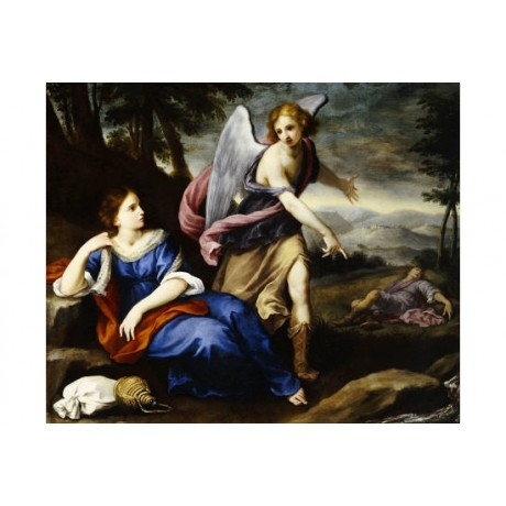 "FLORENTINE SCHOOL ""Angel Appearing To Hagar"" ON CANVAS various SIZES, BRAND NEW"