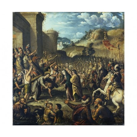"""BALTHASAR ECHAVE THE ELDER """"The Road To Calvary"""" CANVAS various SIZES, BRAND NEW"""