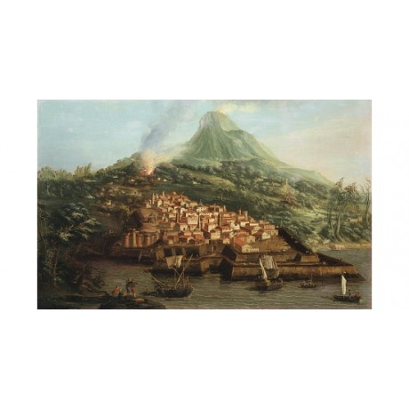 "ANTONIO CANALE ""A Volcanic Island With Harbour"" CANVAS! various SIZES, BRAND NEW"