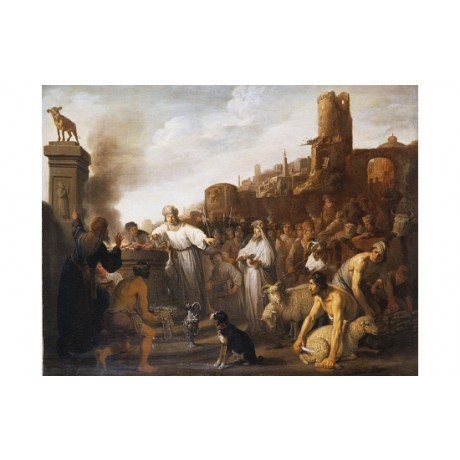 "CLAES MOYAERT ""Adoration of The Golden Calf"" new CANVAS various SIZES, BRAND NEW"