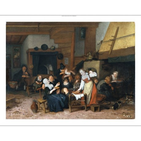 "CORNELIS DUSART ""Peasants Eating Waffles In A Tavern"" various SIZES, BRAND NEW"