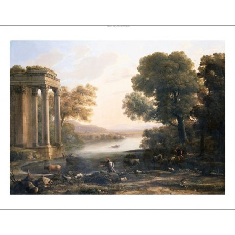 CLAUDE LE LORRAIN Pastoral Landscape Ruined Temple NEW various SIZES, BRAND NEW