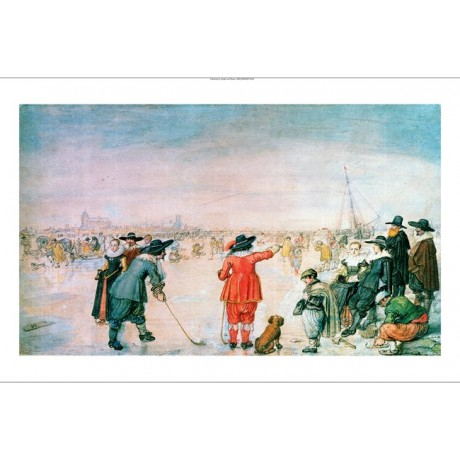 "HENDRIK AVERCAMP ""Golf On Ice"" sport PRINT NEW CANVAS various SIZES, BRAND NEW"