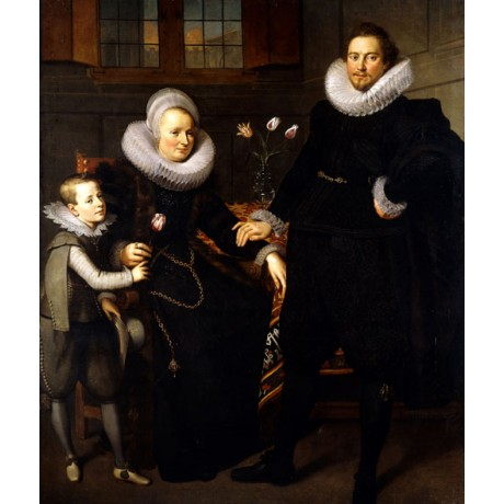 "ADAM VAN NOORT ""Group Portrait of a Family"" DIGNITY ruff touching CANVAS PRINT"