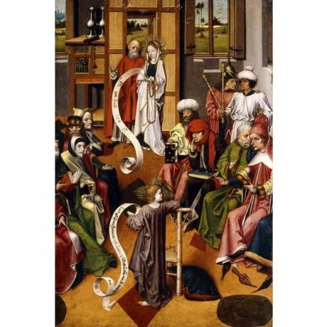 "ISERLOHN ""The Presentation in the Temple"" MARY jesus elderly group CANVAS PRINT"
