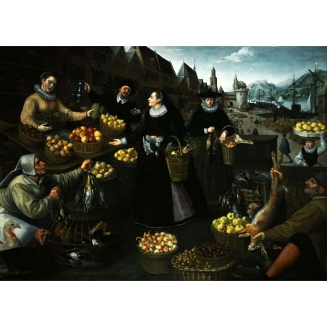 GEORG FLEGEL & VAN VALKENBORCH An Allegory of Autumn MARKET food frankfurt NEW