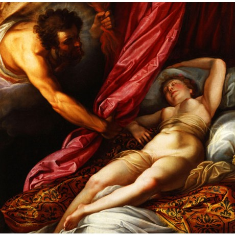 ABRAHAM JANNSENS Jupiter and Semele NAKED woman sleeping bed chamber NEW PRINT