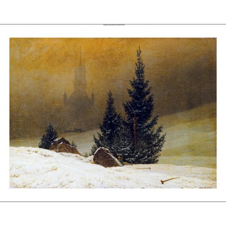 "CASPAR DAVID FRIEDRICH ""Winter Landscape"" CANVAS ART various SIZES available"