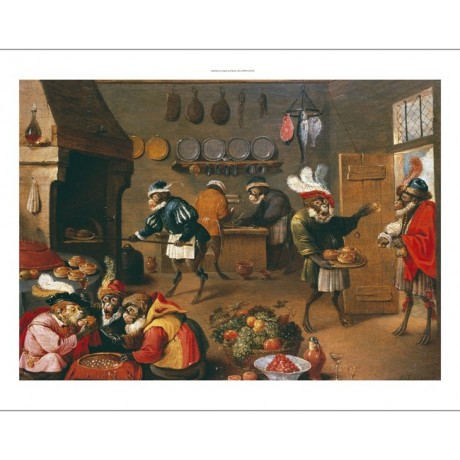 "DAVID TENIERS II (FOLLOWER OF ) ""Monkey's Cooks"" Print various SIZES, BRAND NEW"