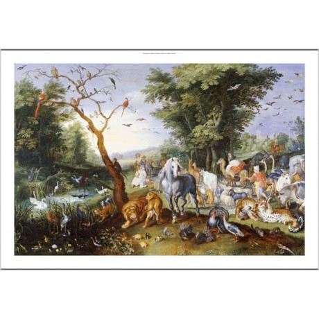 "JAN BRUEGEL II ""Animals Entering Noah's Ark"" PRINT choose SIZE, from 55cm up"