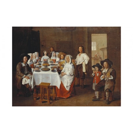 "JEAN MICHELIN ""A Family Meal"" new CANVAS see our shop! various SIZES, BRAND NEW"