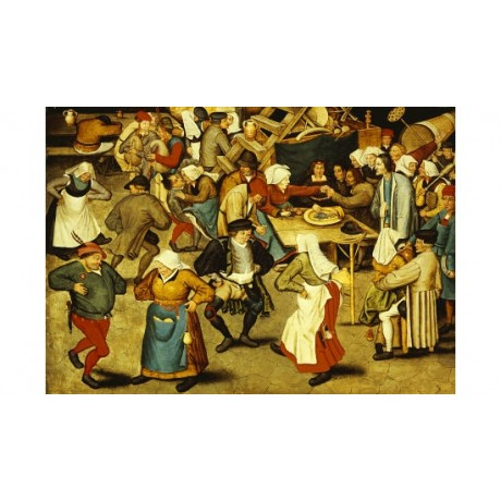 "PIETER BRUEGHEL II ""Indoor Wedding Dance"" print NEW various SIZES available, NEW"