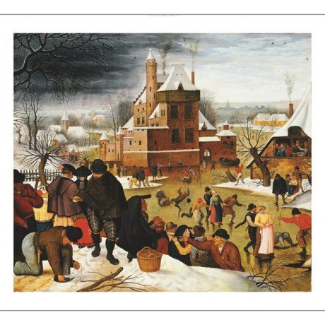 "PIETER BRUEGHEL II ""Skating On Castle Moat"" CANVAS ART various SIZES, BRAND NEW"