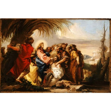 GIOVANNI DOMENICO TIEPOLO Christ Healing the Blind Man MIRACLE bible NEW PRINT