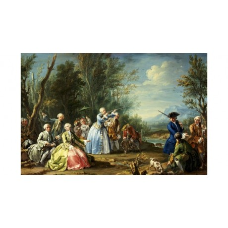 JACOPO AMIGONI Shooting Landscape PRINT ON CANVAS choose SIZE, from 55cm up, NEW