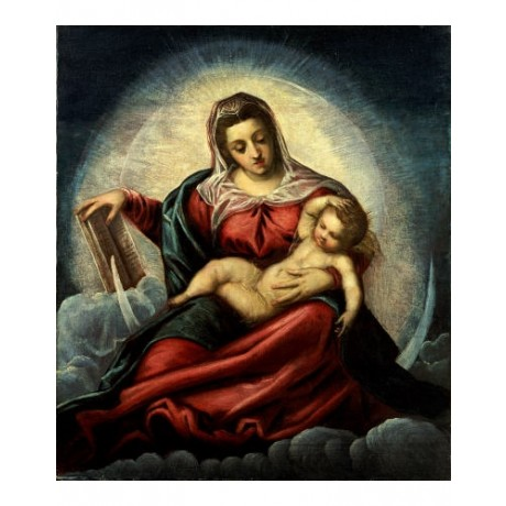 "JACOPO ROBUSTI ""Madonna And Child"" Religious PRINT choose SIZE, from 55cm up"