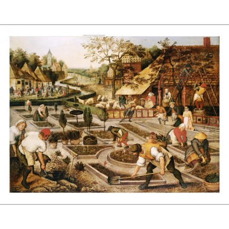 PIETER BRUEGHEL II Gardeners PRINT CANVAS EDITION choose SIZE, from 55cm up, NEW