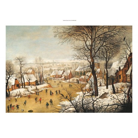 PIETER BRUEGHEL II Skating Landscape PRINT ON CANVAS various SIZES available