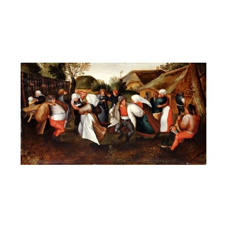 "MEN VAN CLEVE (FOLLOWER OF ) ""Wedding Dance"" PRINT choose SIZE, from 55cm up"