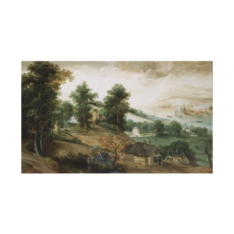 "JACOB GRIMMER ""An Extensive Wooded Landscape"" CANVAS! various SIZES, BRAND NEW"