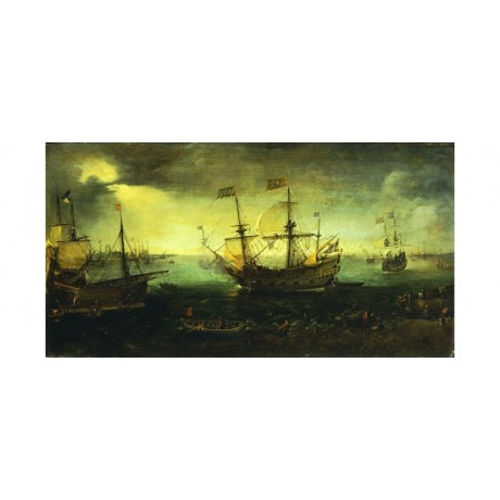 CORNELIS CLAESZ VAN WIERINGEN Ships at Dordrecht PRINT various SIZES, BRAND NEW