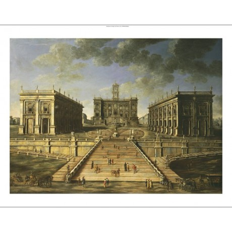 ROMAN SCHOOL Piazza Del Campidoglio Rome PRINT NEW choose SIZE, from 55cm up