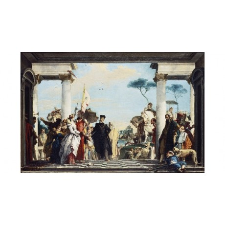 GIAMBATTISTA TIEPOLO Arrival of Henri III At Contarini various SIZES, BRAND NEW