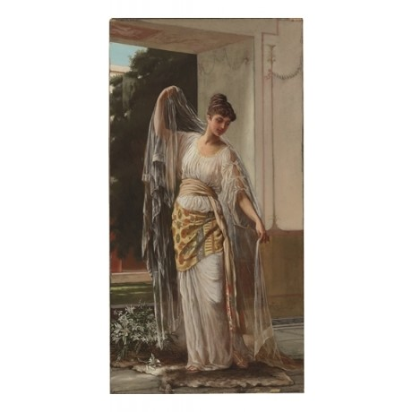"HERBERT SIDNEY ""A Pompeian Bride"" ELEGANT woman dress draped NEW CANVAS PRINT"