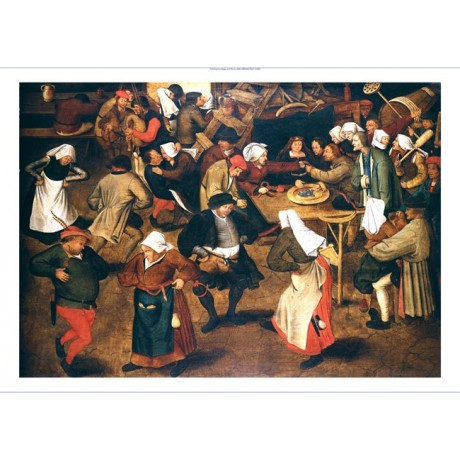 "PIETER BRUEGHEL THE YOUNGER ""The Wedding Dance"" CANVAS! various SIZES, BRAND NEW"