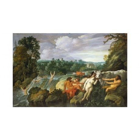 "MOYSES VAN UYTTENBROECK ""An Italianate Wooded River"" various SIZES available"